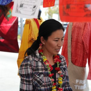 Sonam Dolma sells Tibetan jewelry and handicrafts at farmers' markets throughout the L.A. area.